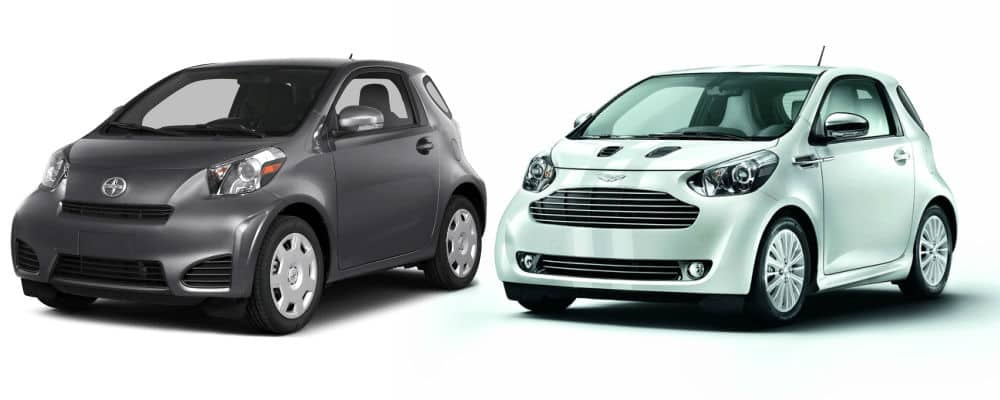 Aston Martin Cygnet and the Toyota Scion iQ are the same car with different branding