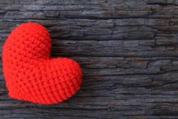 Love Heart on Wood