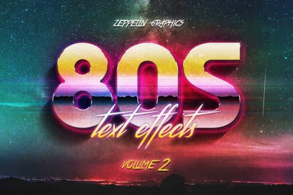 3D 80s Text Effects Vol.2