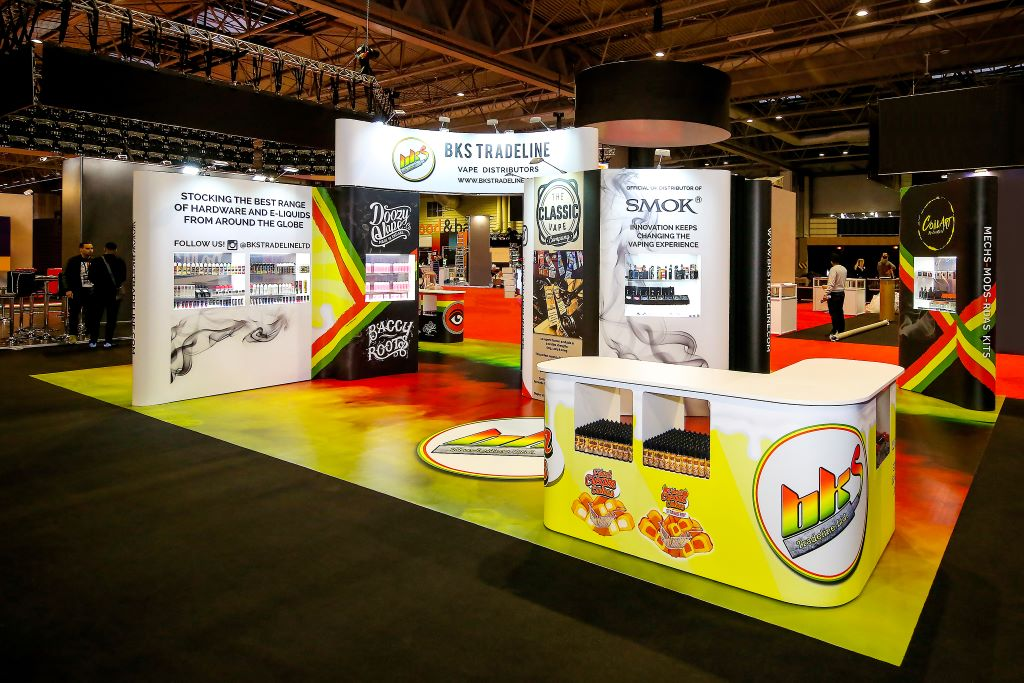 Large format graphic design exhibition stand