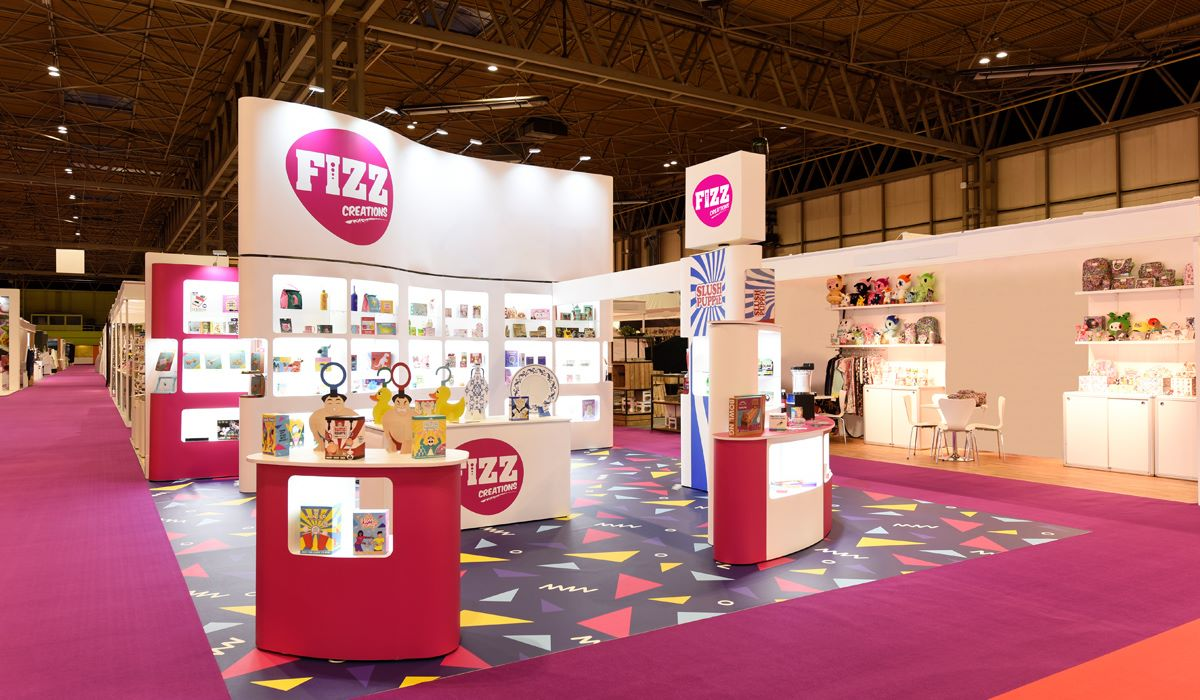 Colourful exhibition stand large format graphic design