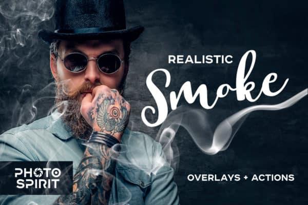 Realistic Smoke Overlays Photoshop