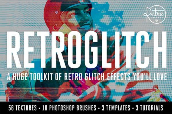 RetroGlitch Photoshop Glitch Pack