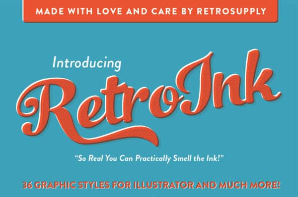 RetroInk – Huge Illustrator Kit