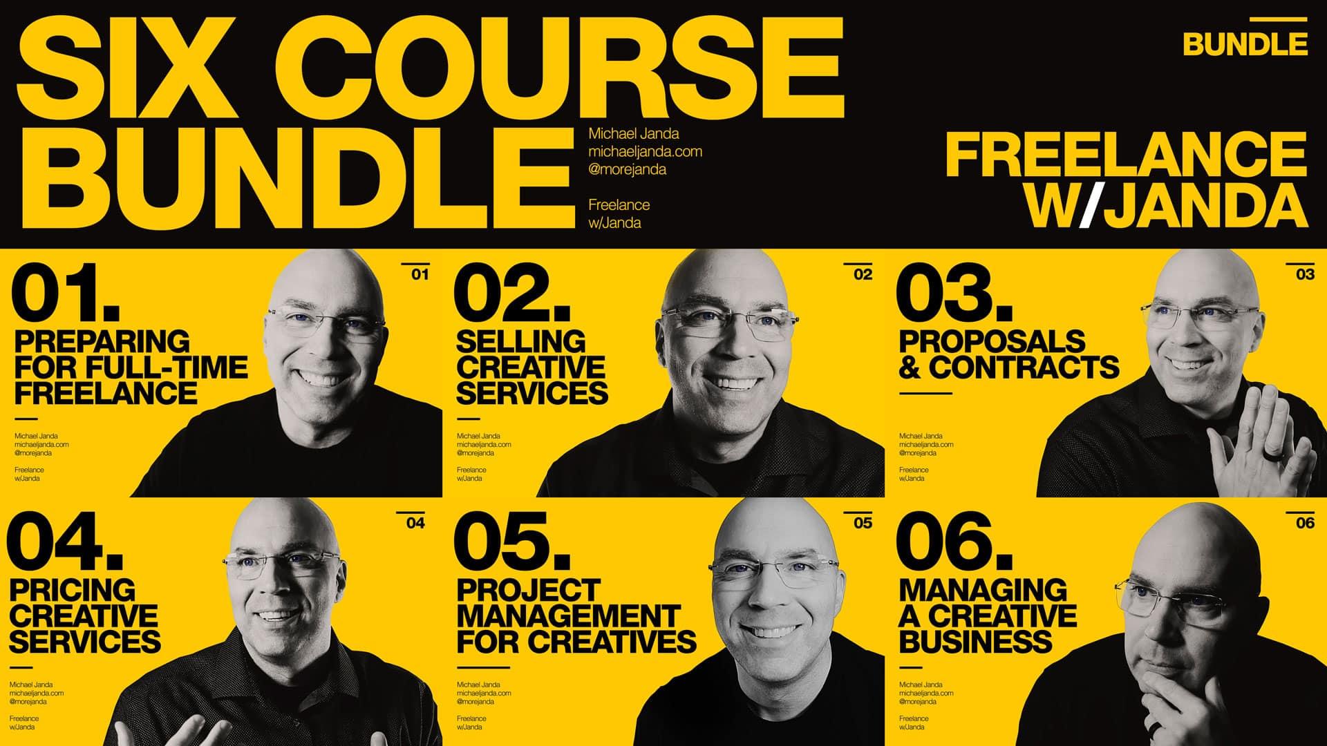 Freelance with Janda 6 Course Bundle