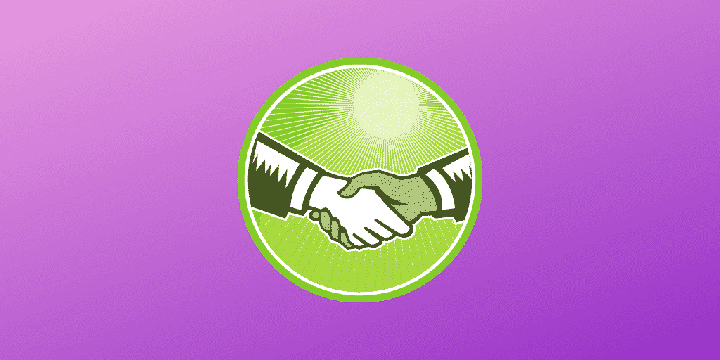 Shaking hands graphic - Becoming a trusted authority as an affiliate