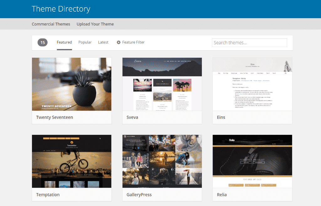Captura de tela do WordPress - A plataforma mais popular e bem suportada do mundo