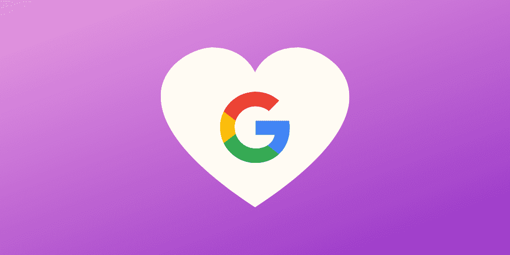 Love heart with Google logo inside - How to make Google love your affiliate marketing website