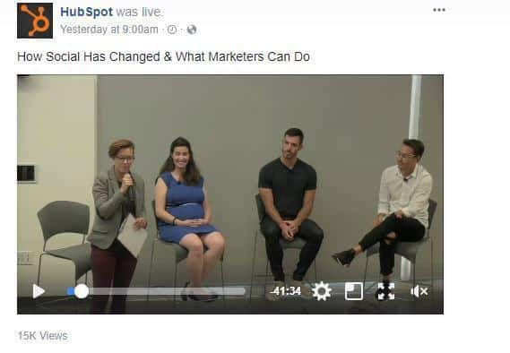 HubSpot live stream video