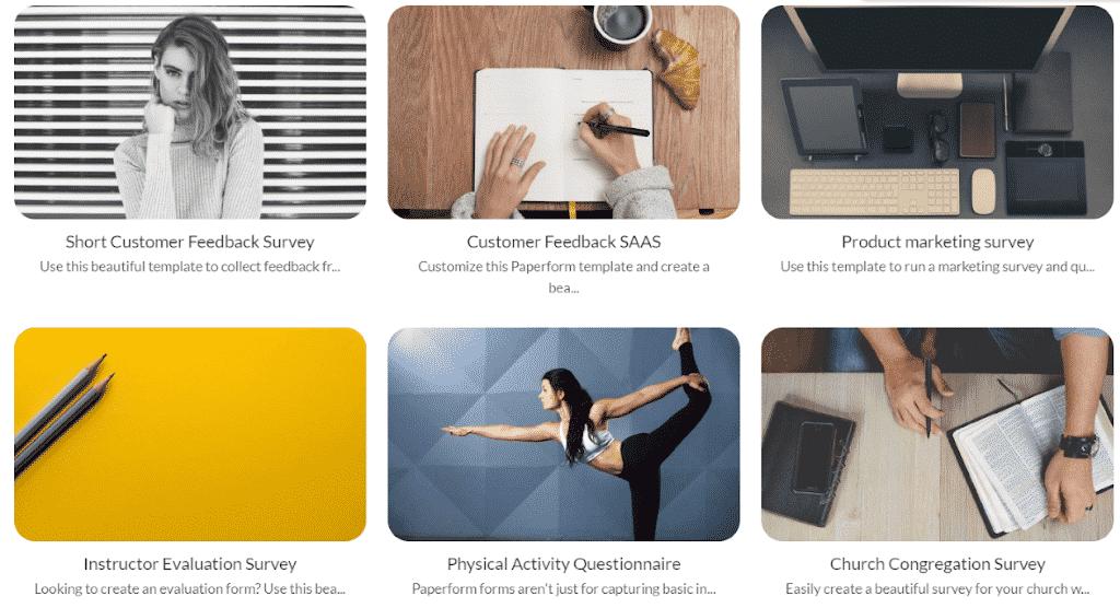 O Paperform incorpora formulários em sites usando ferramentas de software de web design