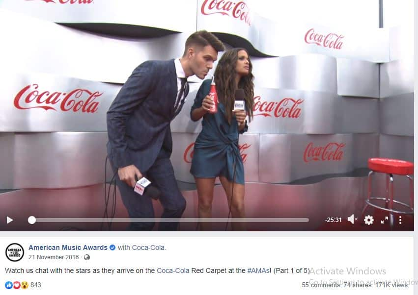 American Music Awards live stream of the Coca-Cola Red Carpet