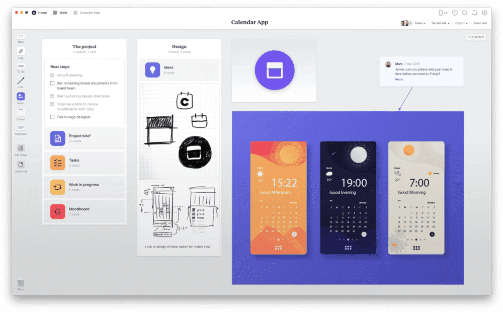 Milanote remote work tool for creativity