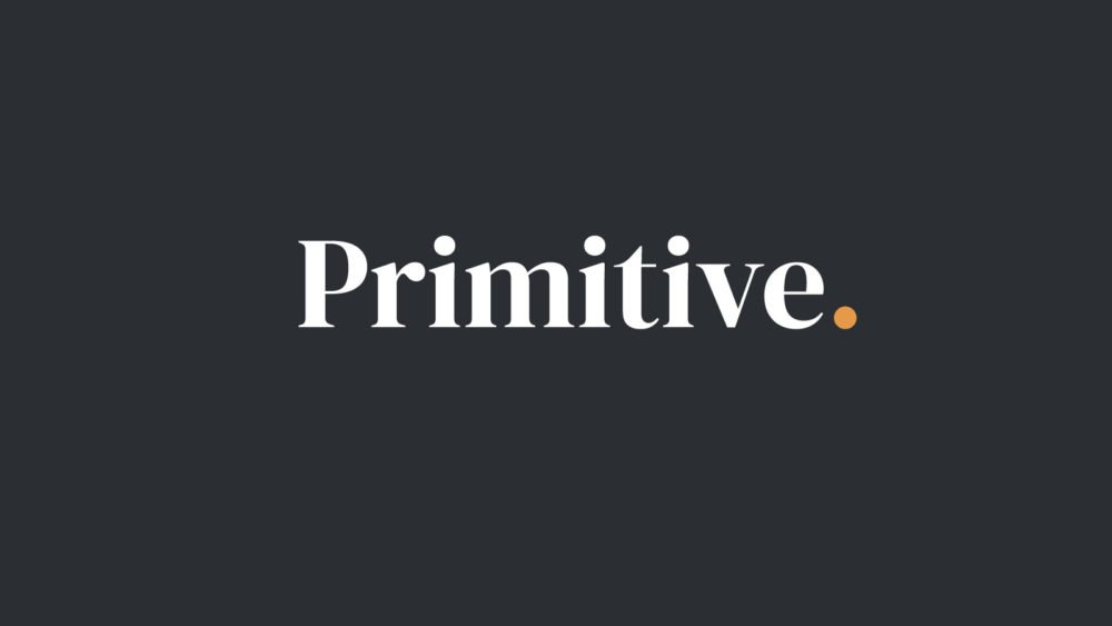 Primitive Logo on Grey