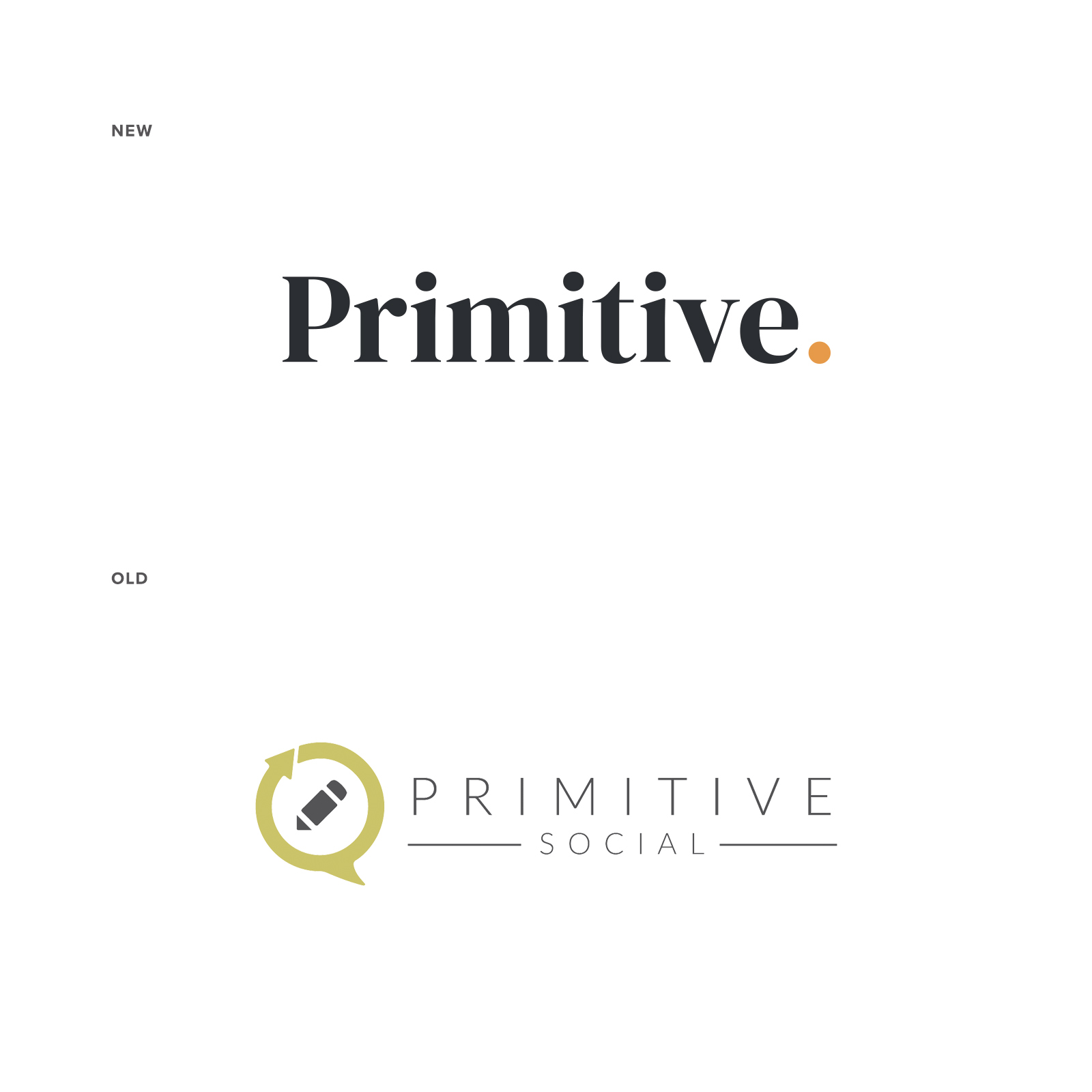 Primitive Logo Before and After