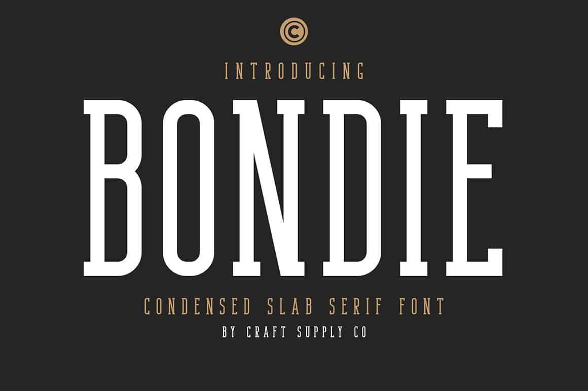 Bondie – Condensed Slab Serif Font