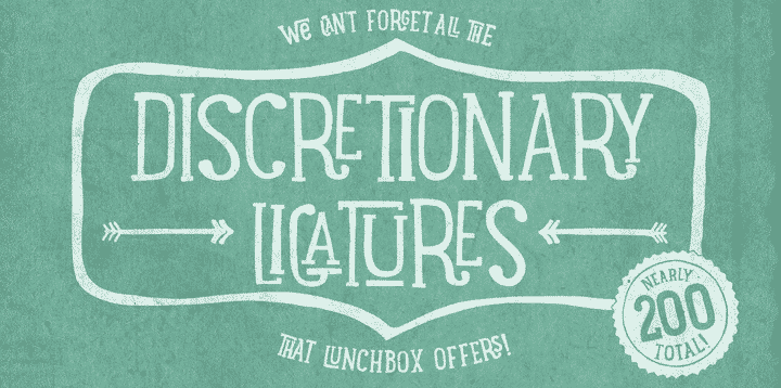 Lunchbox Slab Font Family