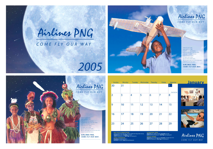 Airlines PNG branding before the rebrand to PNG Air