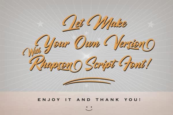 Rhapson Script Font