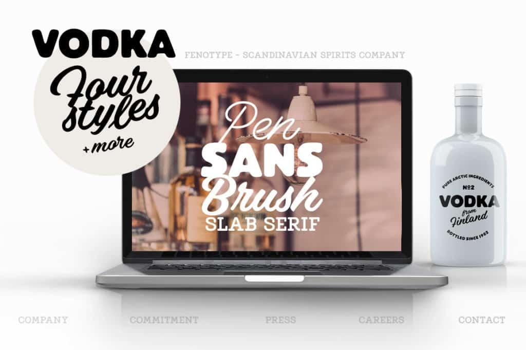 Vodka Display Font Pack
