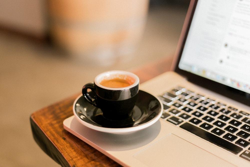 Remote team bonding over virtual coffee