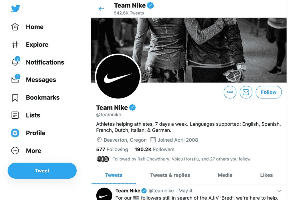 A Nike se destaca no suporte ao cliente