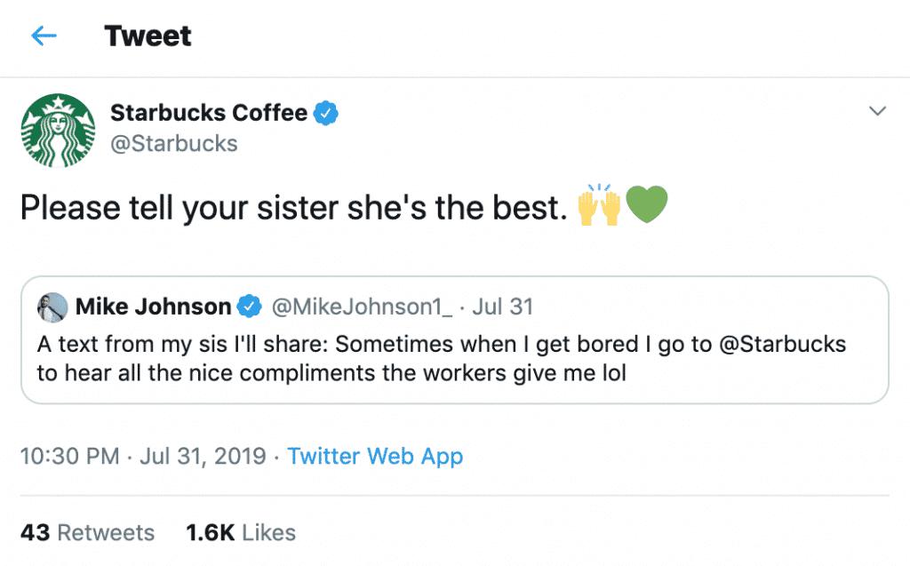 O tom atrevido da Starbucks nos bate-papos de suporte ao cliente