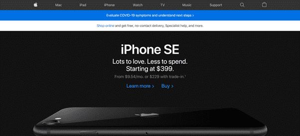 Apple's web design aids customer engagement