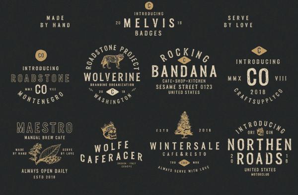 Melvis – Vintage Font Family