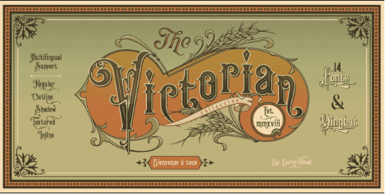 Victorian Fonts Collection