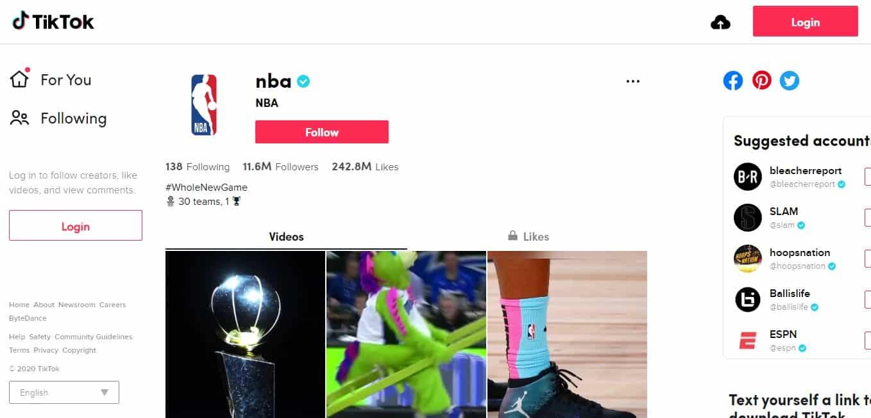 TikTok Campaign: NBA