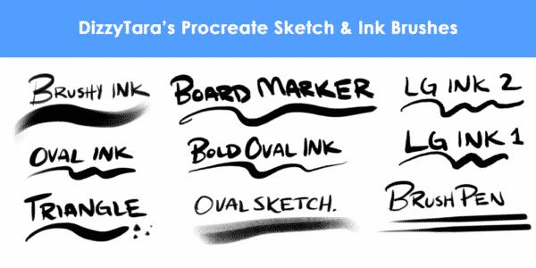 Sketch & Ink Procreate Brushes