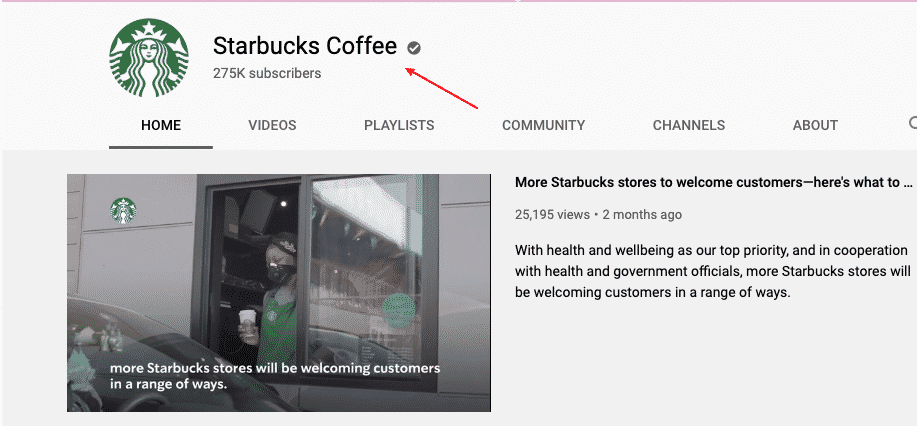 internet marketing YouTube Starbucks channel