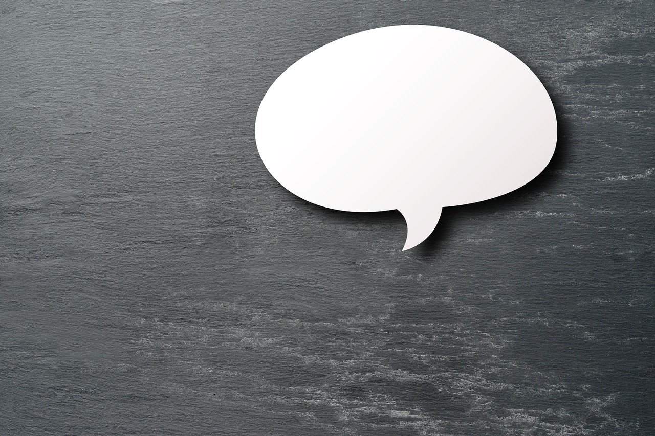 Empty message bubble