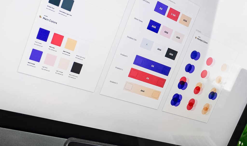 Brand style guidelines - Color palette