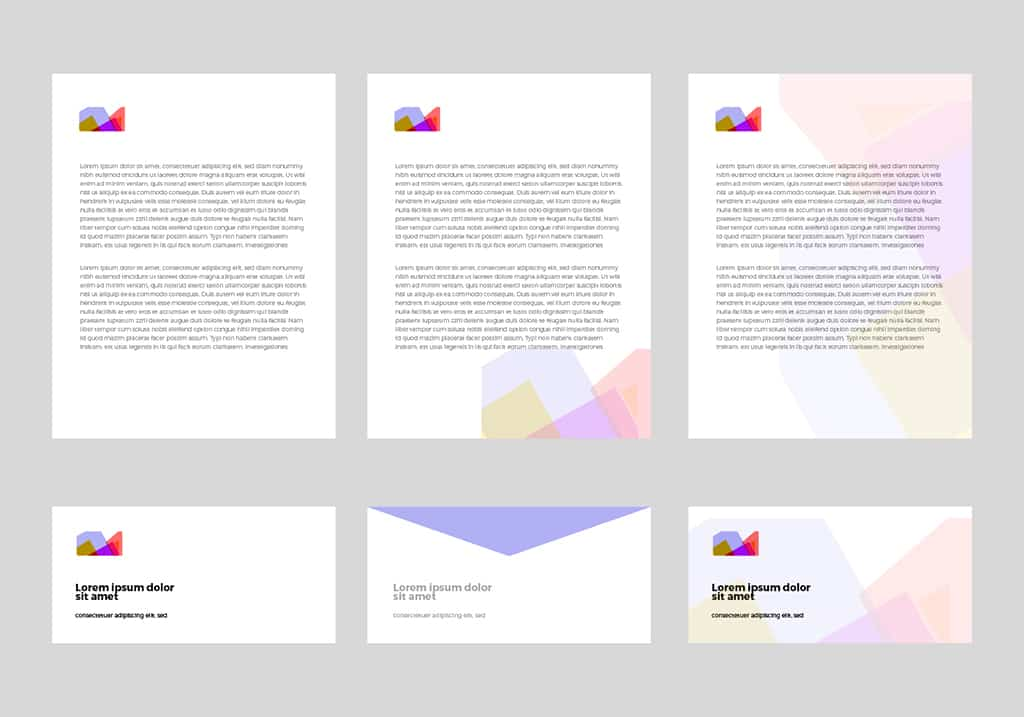 Templates in brand style guidelines