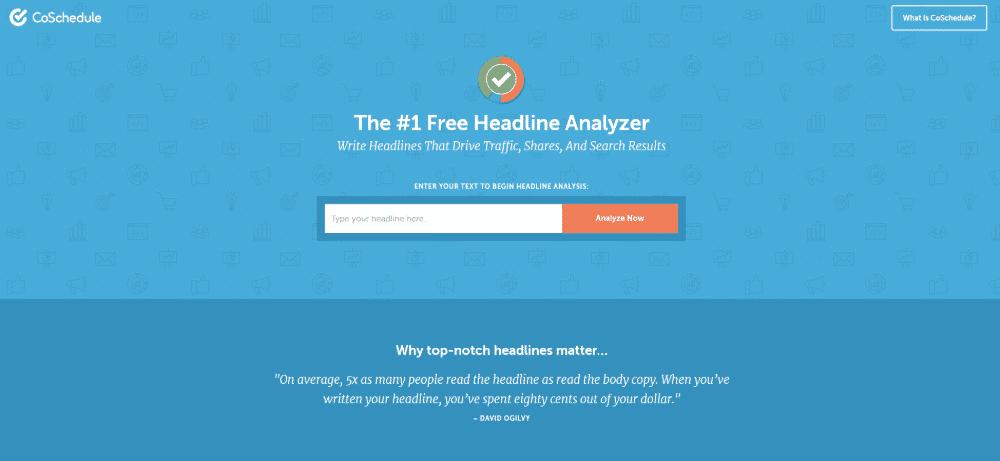 CoSchedule Headline Analyzer to increase website conversions