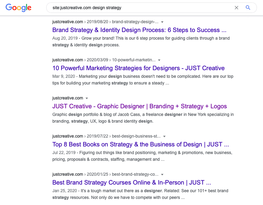 Google website and topic search