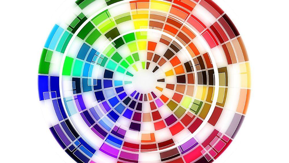 Color wheel for website design