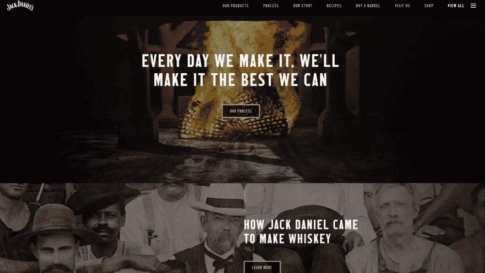 Website design using black for colour psychology
