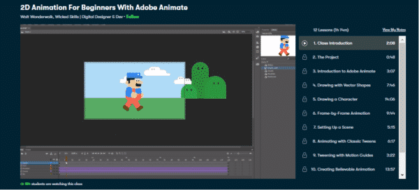 2d animation for beginners with adobe animate