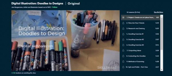 Digital Illustration Doodles to Designs