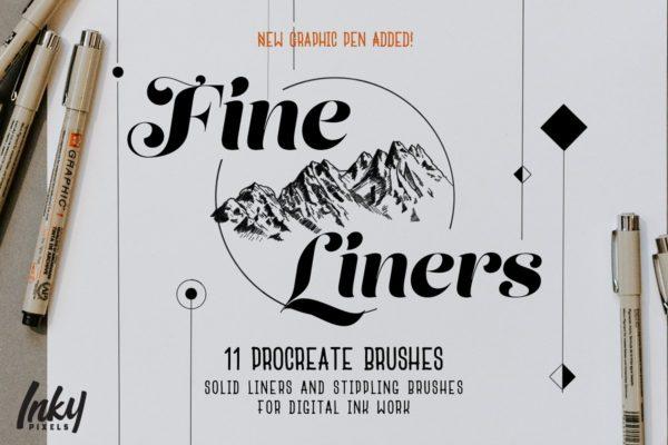 FineLiner Ink Procreate Brushes