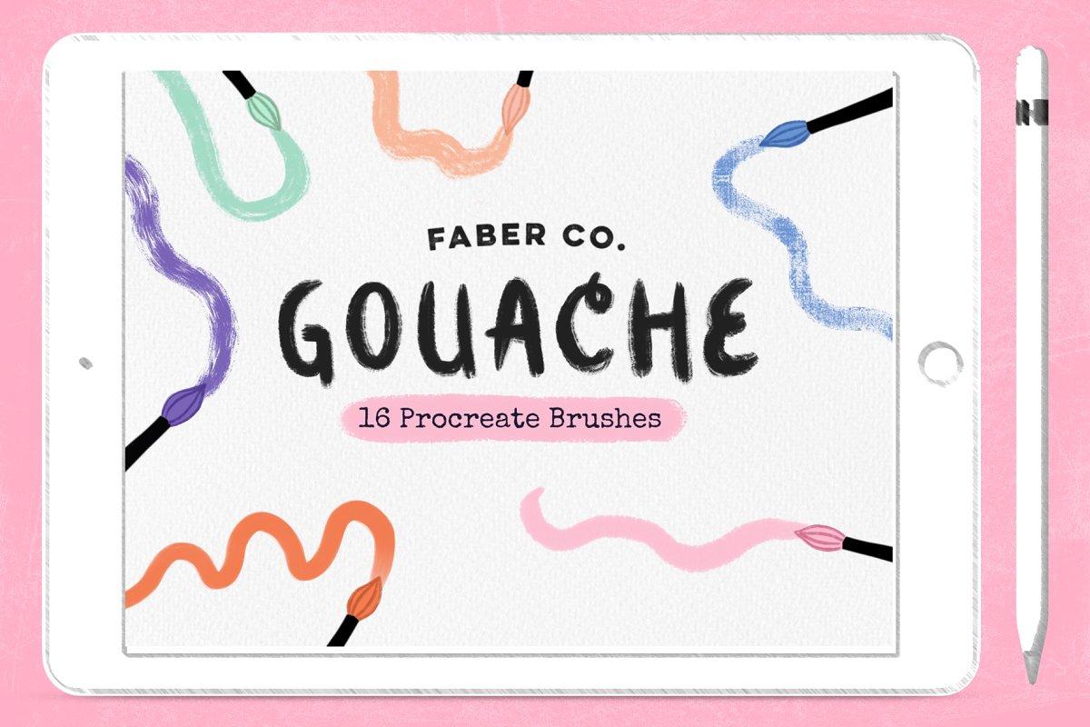 Gouache Procreate Brushes