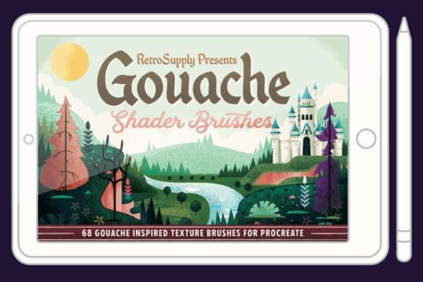Gouache Shader Brushes For Procreate