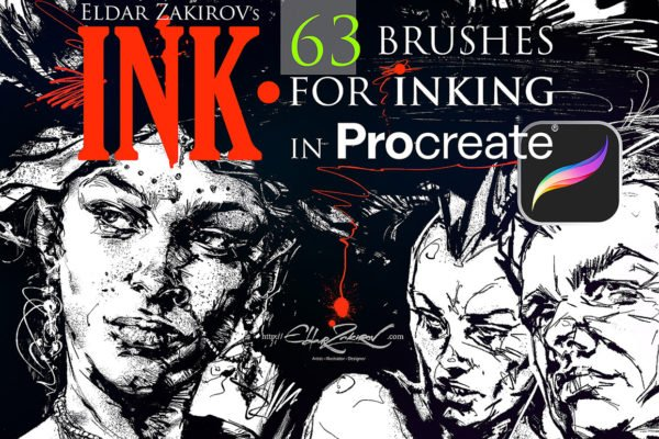 INK 4 Procreate 63 Brushes