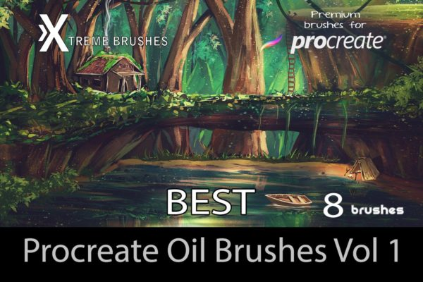 Procreate Best Oil Brushes Vol 1.0!