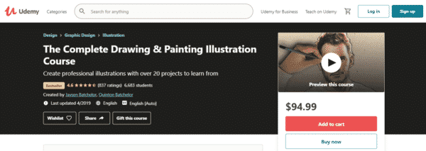 The Complete Drawing & Painting Illustration Course