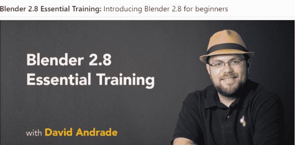 blender 2.8 essential training