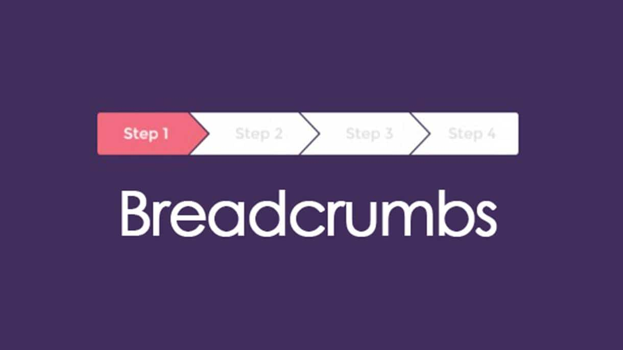 Breadcrumbs in web design