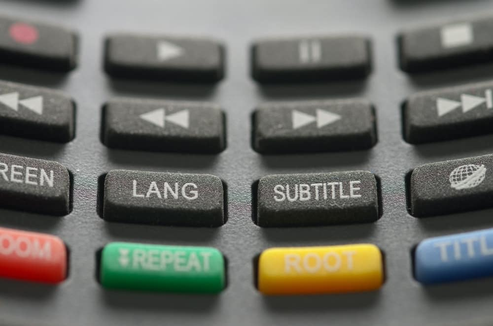 Subtitle and language buttons on remote control